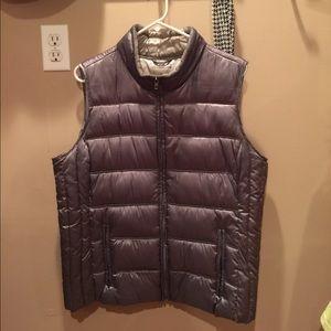 Liz Claiborne Puffy Vest ~ Metallic Gray